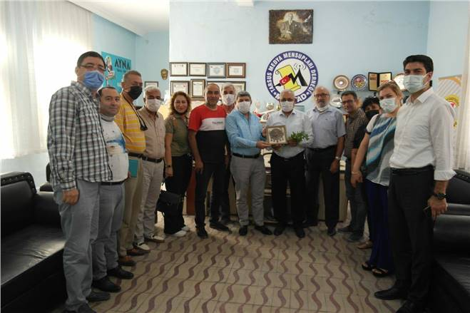 MHP YENİ İLÇE YÖNETİMİ MEDYAD'I ZİYARET ETTİ