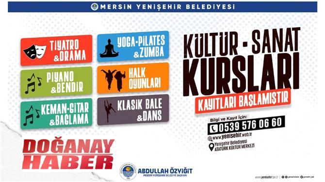 Yenişehir Belediyesi kültür sanat kurslarına kayıtlar
